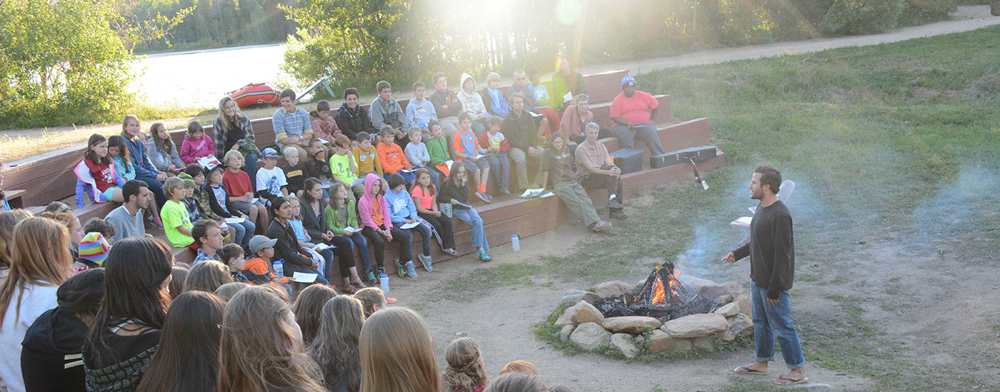 Campfire with all of camp